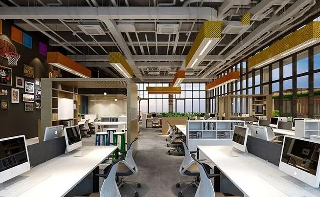 混搭办公室装修风格效果图
