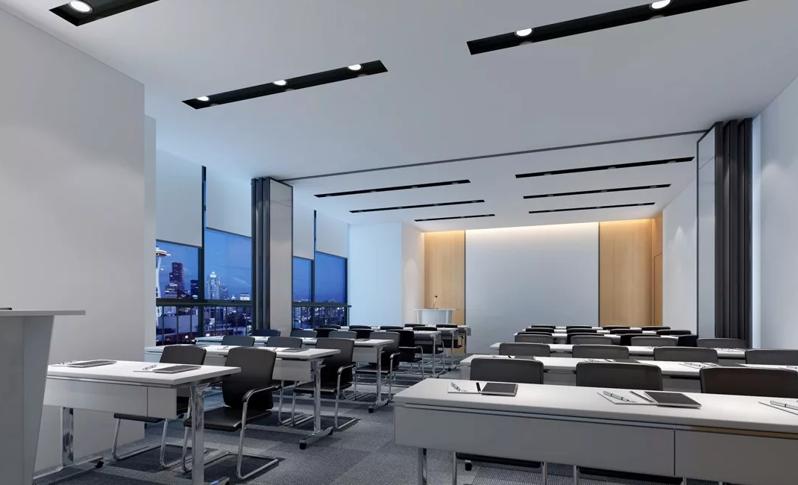 机械设备公司工厂办公室装修设计效果图