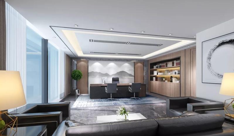 新中式风格办公室设计效果图