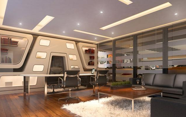 小型办公室装修方案效果图