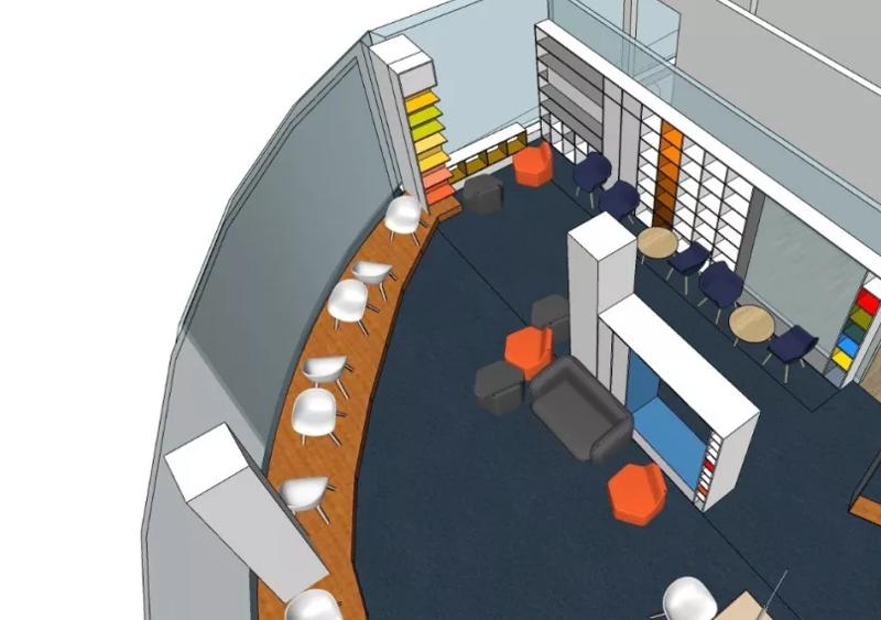 教育培训机构办公室装修设计方案效果图