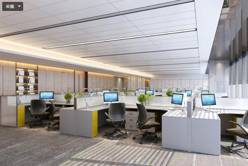 大型办公室内设计方案图