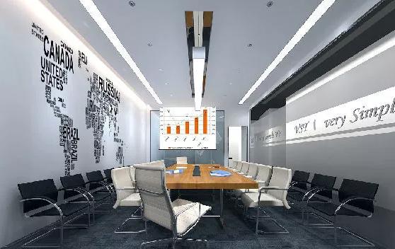 办公室背景墙装修效果图