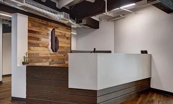 办公室前台装修设计图