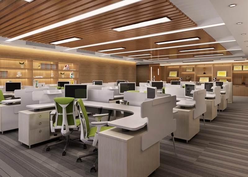 办公室装修布局设计方案案例图片