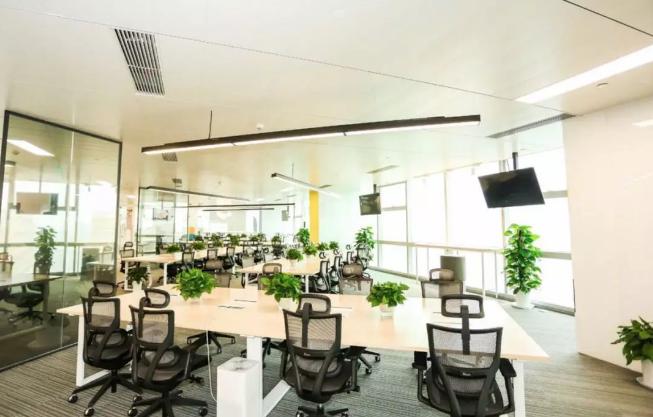开放式办公室装修效果图
