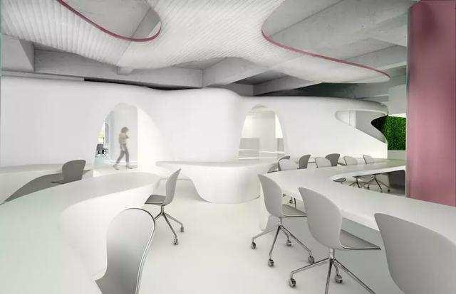 开放式办公空间设计装修方案效果图