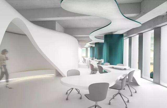 开放式办公空间设计效果图