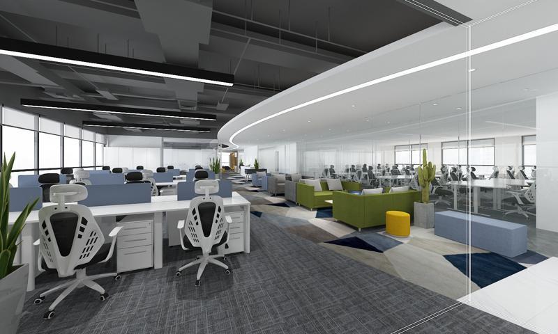 1200平方米办公室装修图片