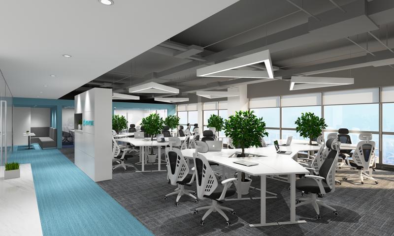 1200平方米办公室设计图片