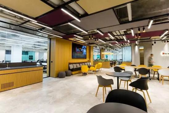 新装修的办公空间效果图