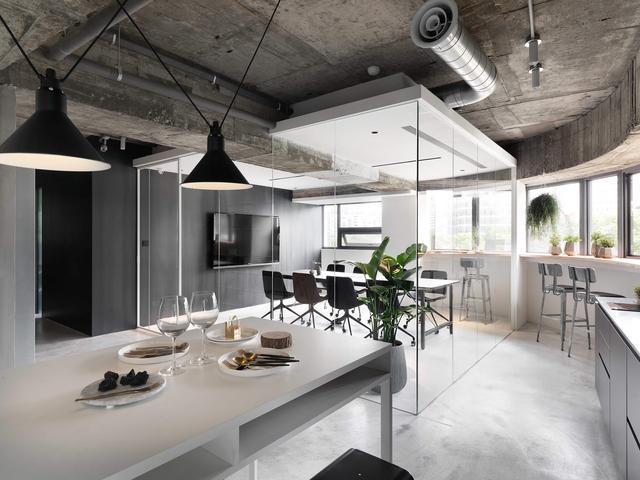 工业风格办公室装修效果图
