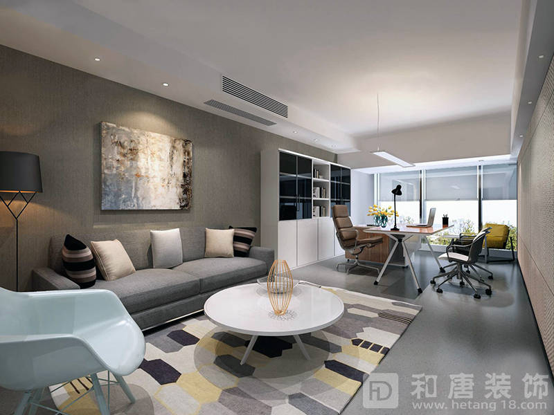 中民新能子公司总经理办公室设计装修.jpg